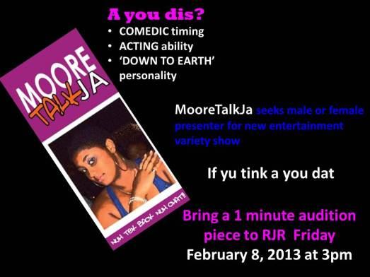 MooreTalk Presenter Auditions TODAY!!
